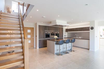 Contemporary Kitchen Photography wide angle view