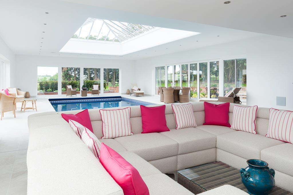 Professional property photography Leicestershire - interiors - swimming pool